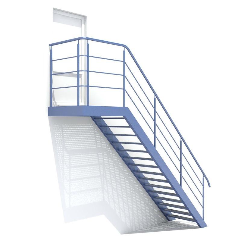 3D metal stair