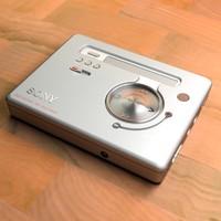 sony minidisc 3D model