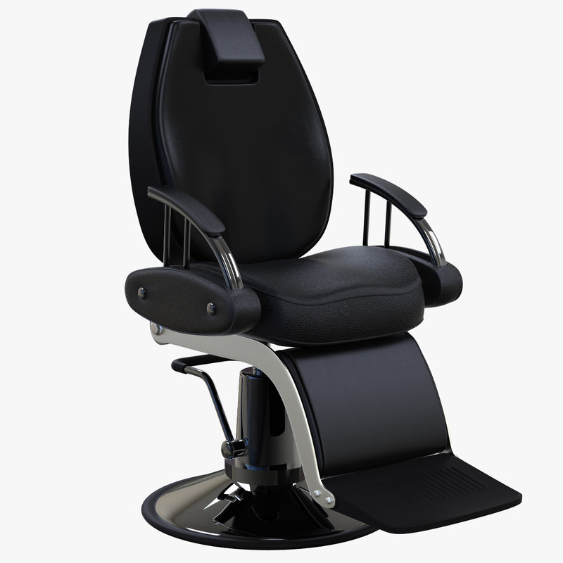 3D barbershop chair