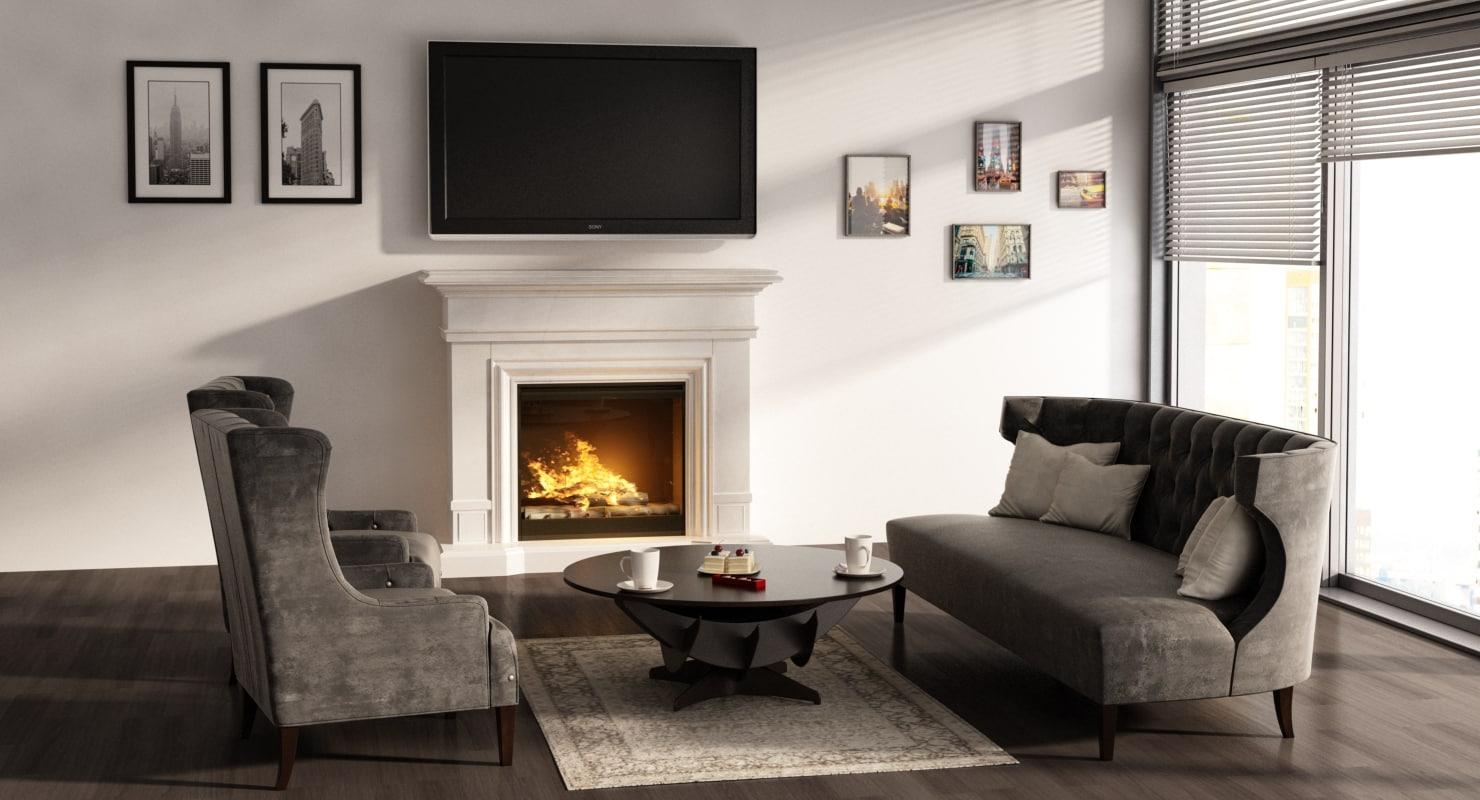 3D interior livingroom model