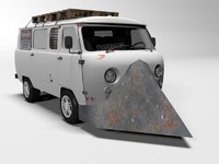 post-apocalyptic van uaz 3D