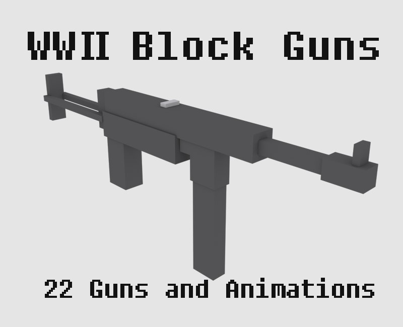 3D war weapons gun model