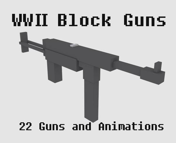 3D war weapons gun model