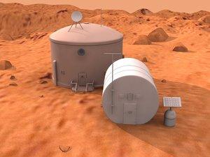 3D model mars base