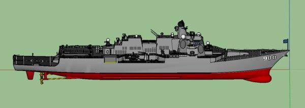3D navy arleigh burke-class destroyer