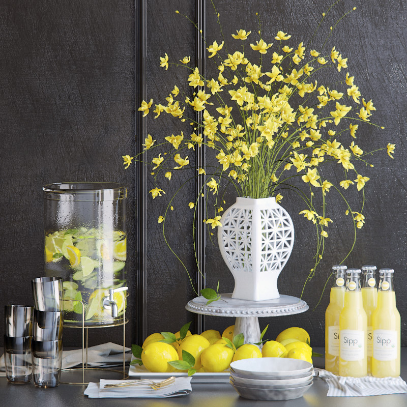 3D flowers lemon model