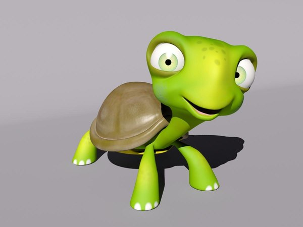 turtle cartoon 3D