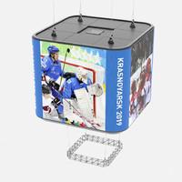 3D cubic led display model
