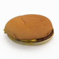 3D burger cheese