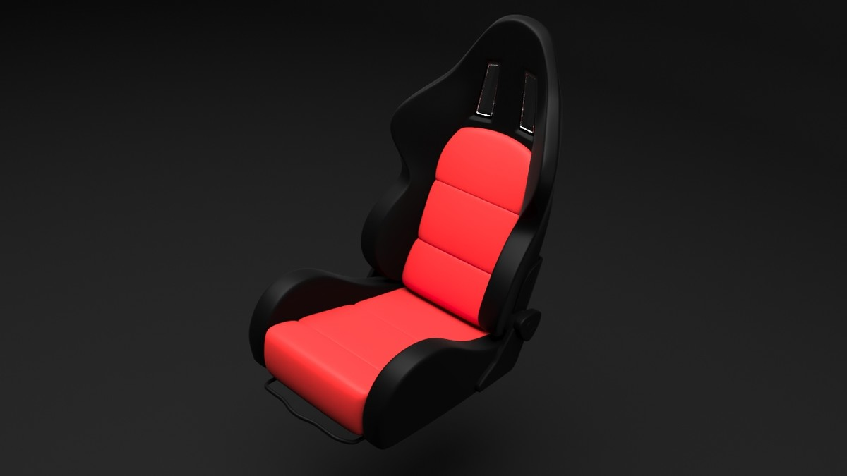 3D generic sport car seat