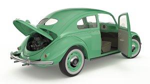 3D volkswagen beetle