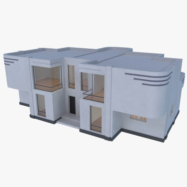 3D model streamline moderne home interior