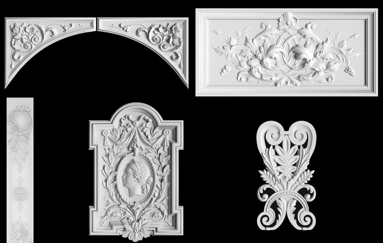 3D cartouche panel