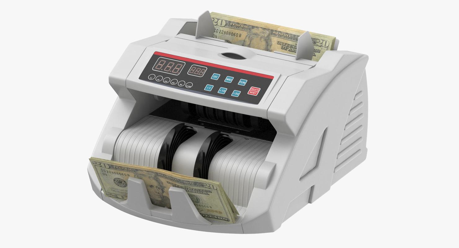 money counter bills 3D