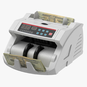 money counter bills 3D