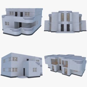 3D streamline moderne interior model