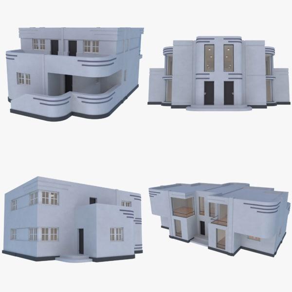 3D streamline moderne interior model