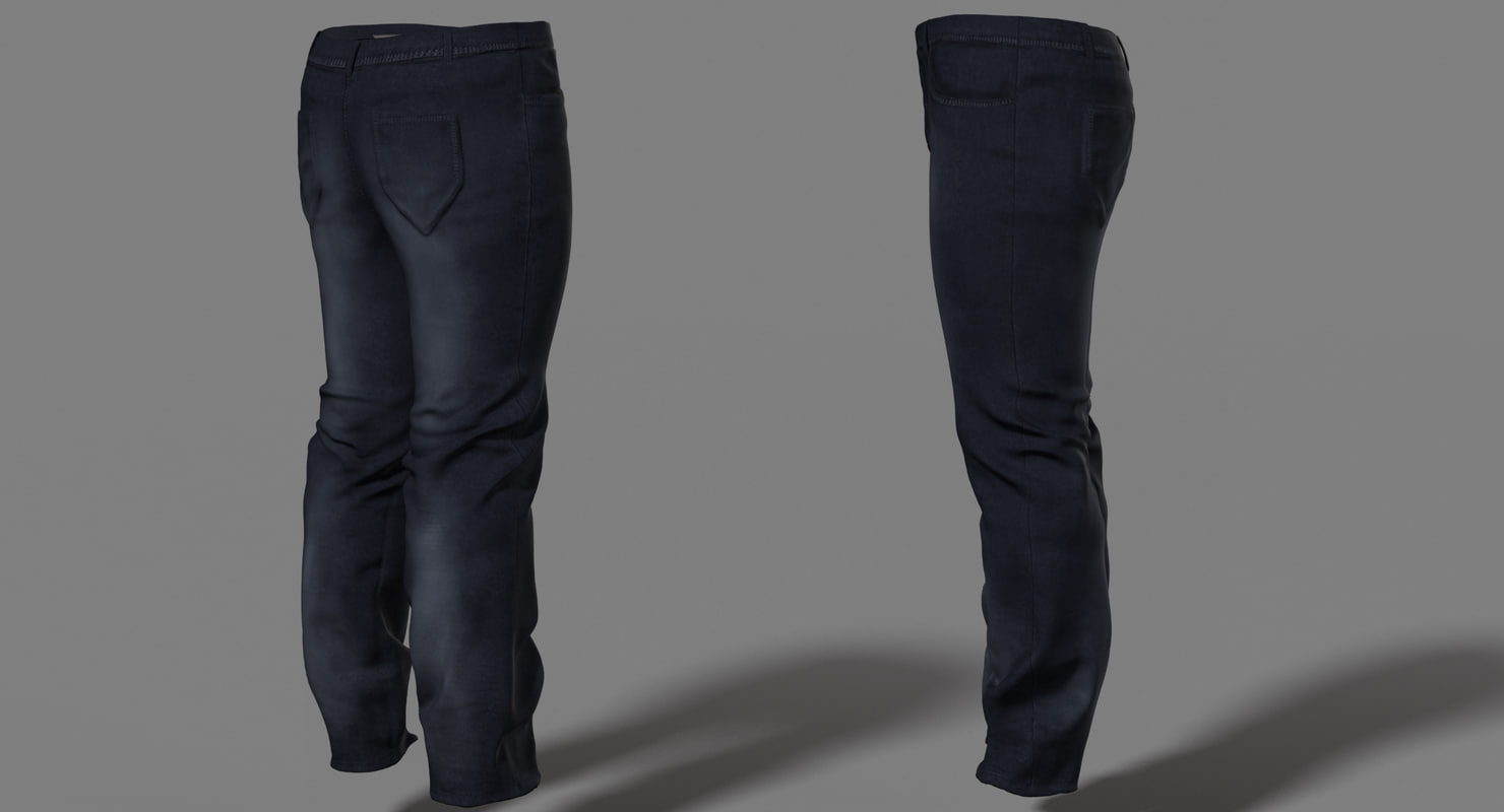 male character jeans 3d model rigged