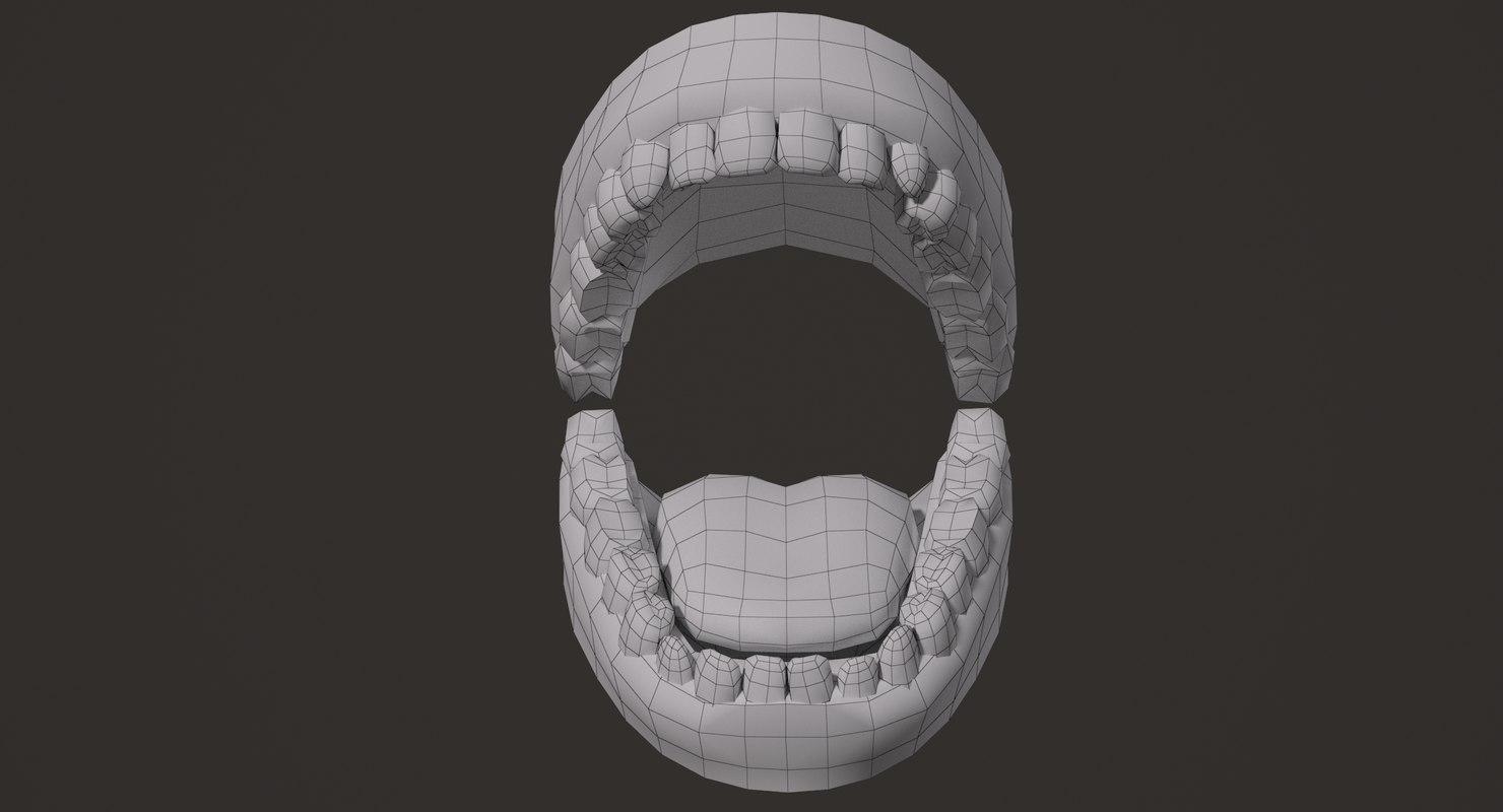 boys teeth and mouth 3d model rigged