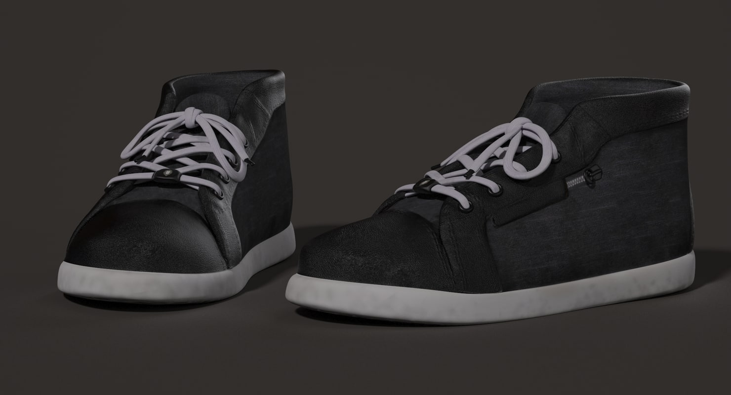 male character shoes 3d model rigged