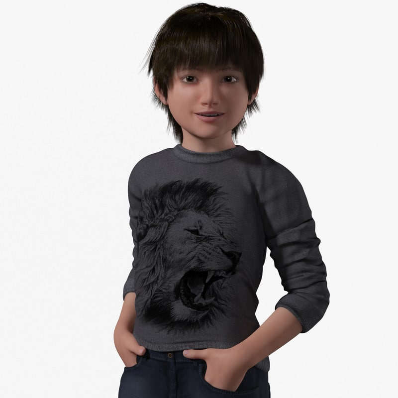 lucas realistic child rig 3D