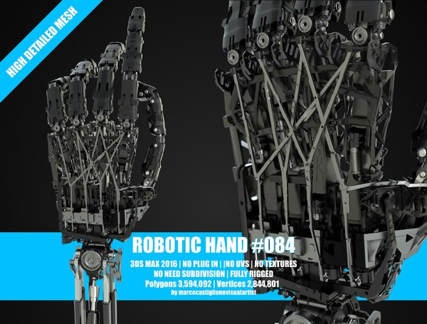 3D model robotic hand