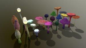 3D pbr fantasy mushroom tree