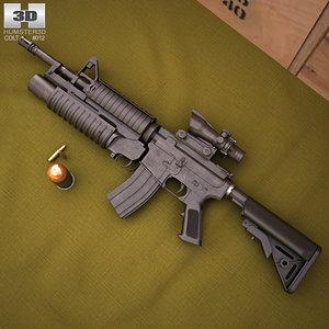 colt m4a1 m4 3D