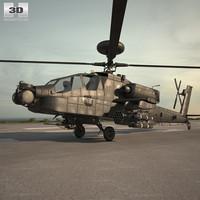 3D boeing ah-64 ah model