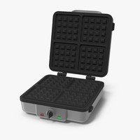 square waffle maker 3D