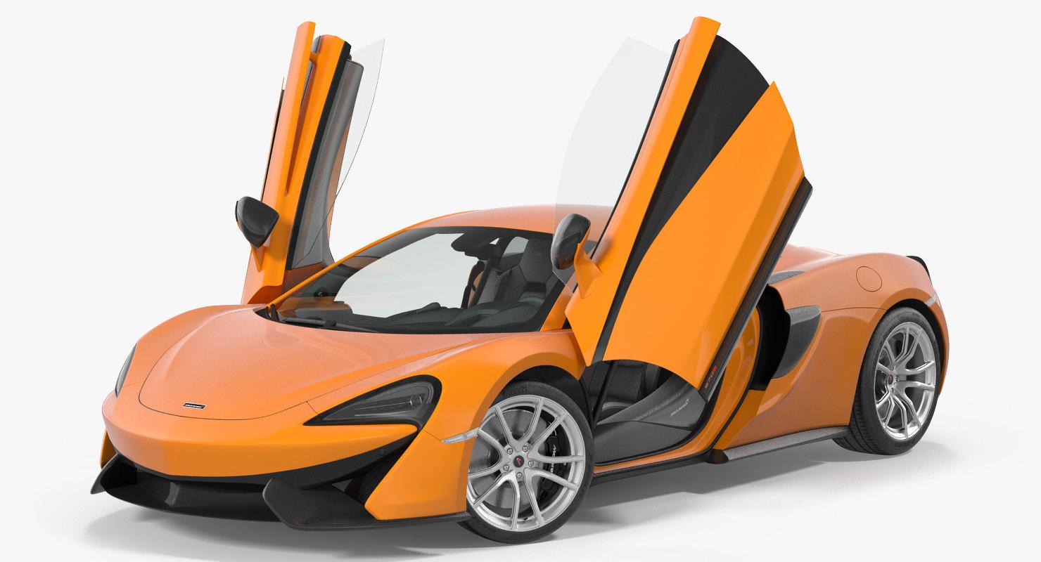 3D sport car mclaren 570s model
