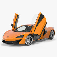 Sport Car McLaren 570S Rigged