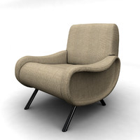 3D model armchair cassina lady