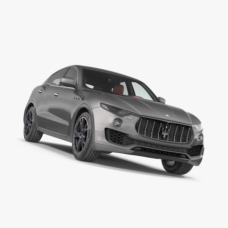 3D model maserati levante 2017 simple
