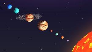 3D cartoon earth sky