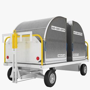 3D airport baggage cart