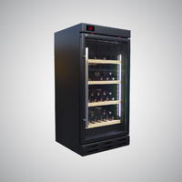3D wine fridge model
