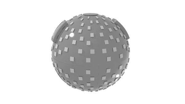 sphere robot mecha 3D model