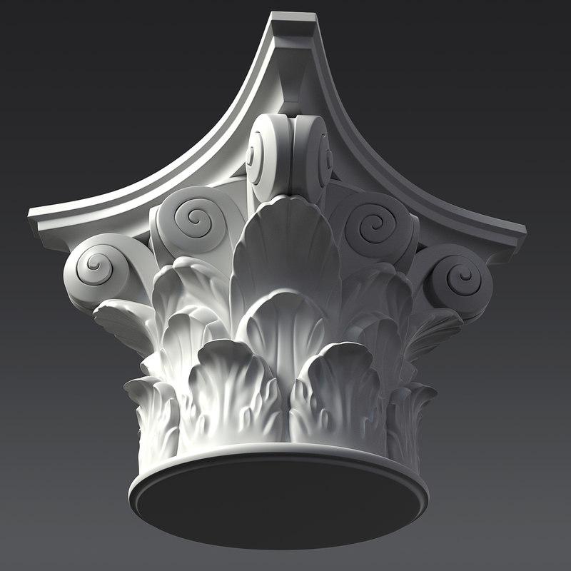 capital corinthian 3D model