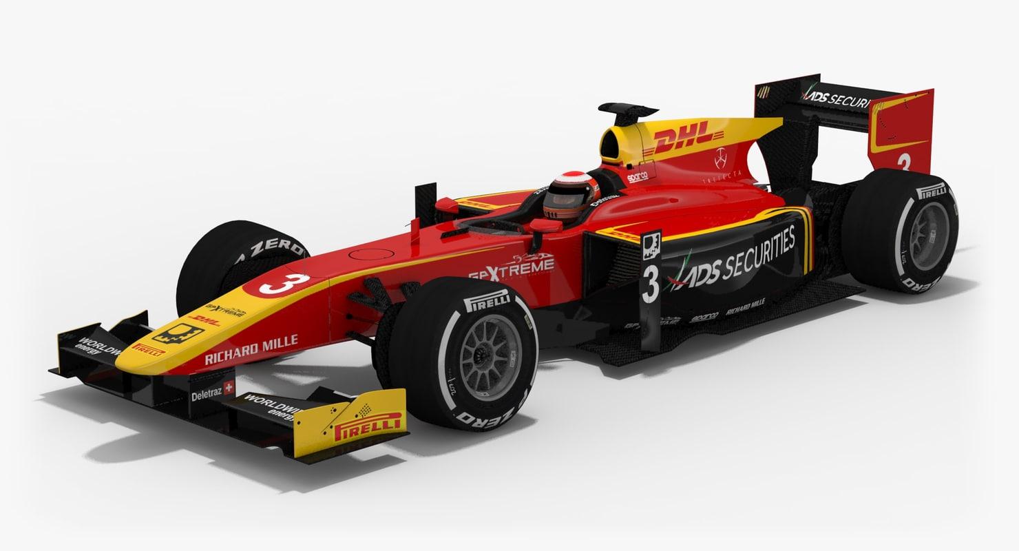 3D russian formula 2 season model