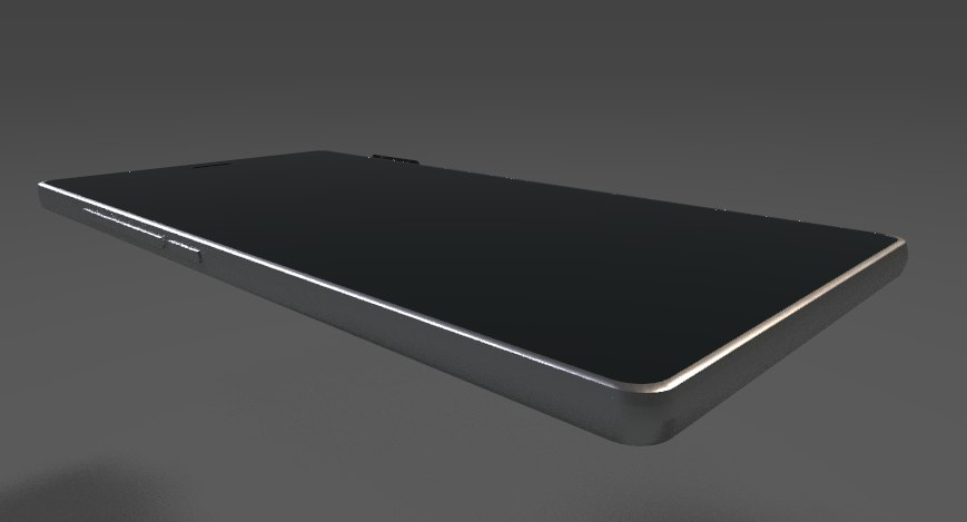 sleek mobile phone 3D model
