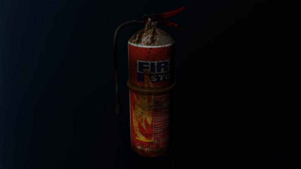 old extinguisher 3D model
