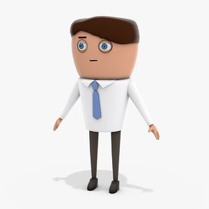 3D officeworker worker