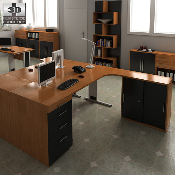 office set 16 3D model