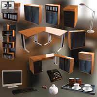 office set 16 3D model