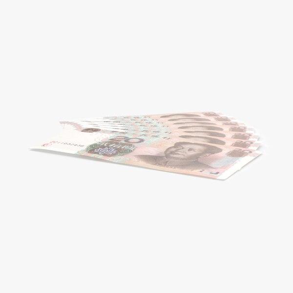 3D 20-yuan-note---fanned model