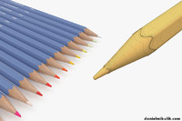 color pencils pack 3D model