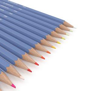 color pencils pack 3D model