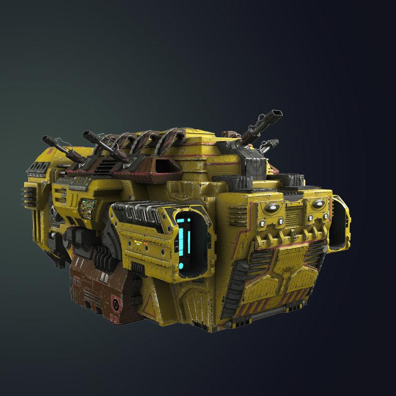 3D model transport ship