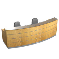 3D reception desk